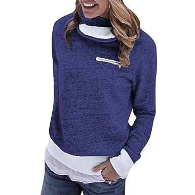 best website d1d29 29f2b Moonuy Frauen Winter Pullover Frauen Langarm T-Shirt ...