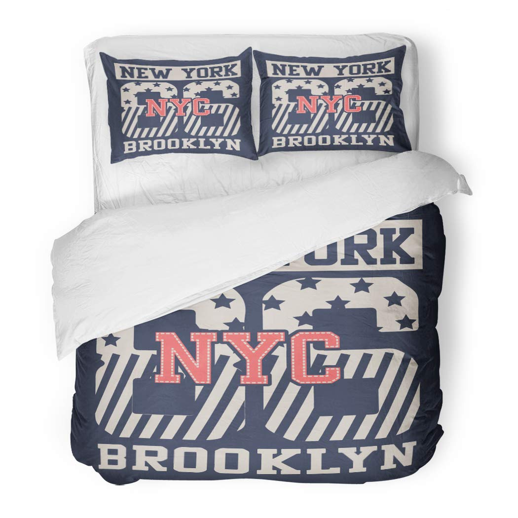 Emvency Bedding Duvet Cover Set Twin (1 Duvet Cover + 1 Pillowcase) Girl College Champs Athletics League Sport Artwork for Varsity Academy American Ball Hotel Quality Wrinkle and Stain Resistant