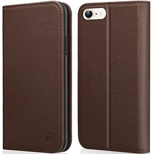 Wallet Flip Leather Case with Card Bag Holder for iPhone 6 Plus/6s Plus Brown - 1
