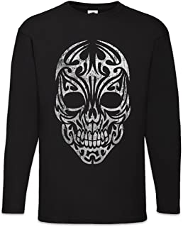 The Mermaid Conviction Tribal Skull Uomo Maglie a Manica Lunga Taglie S – 2XL