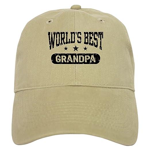 CafePress - World s Best Grandpa Cap - Baseball Cap with Adjustable  Closure 6949d277603b