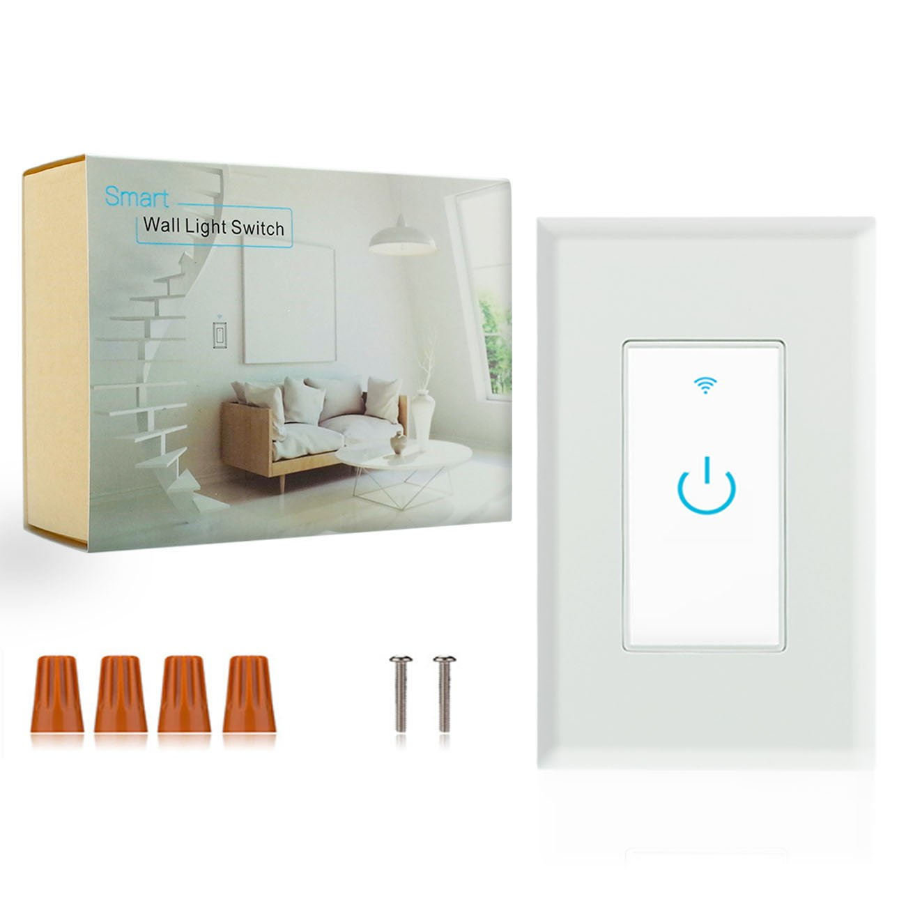 Wifi Smart Switch, Wifi Light Switch 2 Packs, Works with Amazon Alexa and Google Home, App Remote Control with Timing Funtion, No Hub Required (Neutral Wire Required) by Lesim (Image #6)