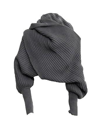 Zuoyety Mode Herbst Winter Warm Einfarbig Gestrickt Wrap Schal