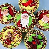 Fondant Impression Mat, Chirstmas Series Elk Deer Design Silicone Cake Decorating Supplies for Cupcake Wedding Cake Decoration