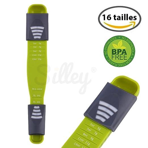 2 opinioni per [Novità 2016] Silley® Cucchiaio Dosatore – Cucchiaio misuratore regolabile-