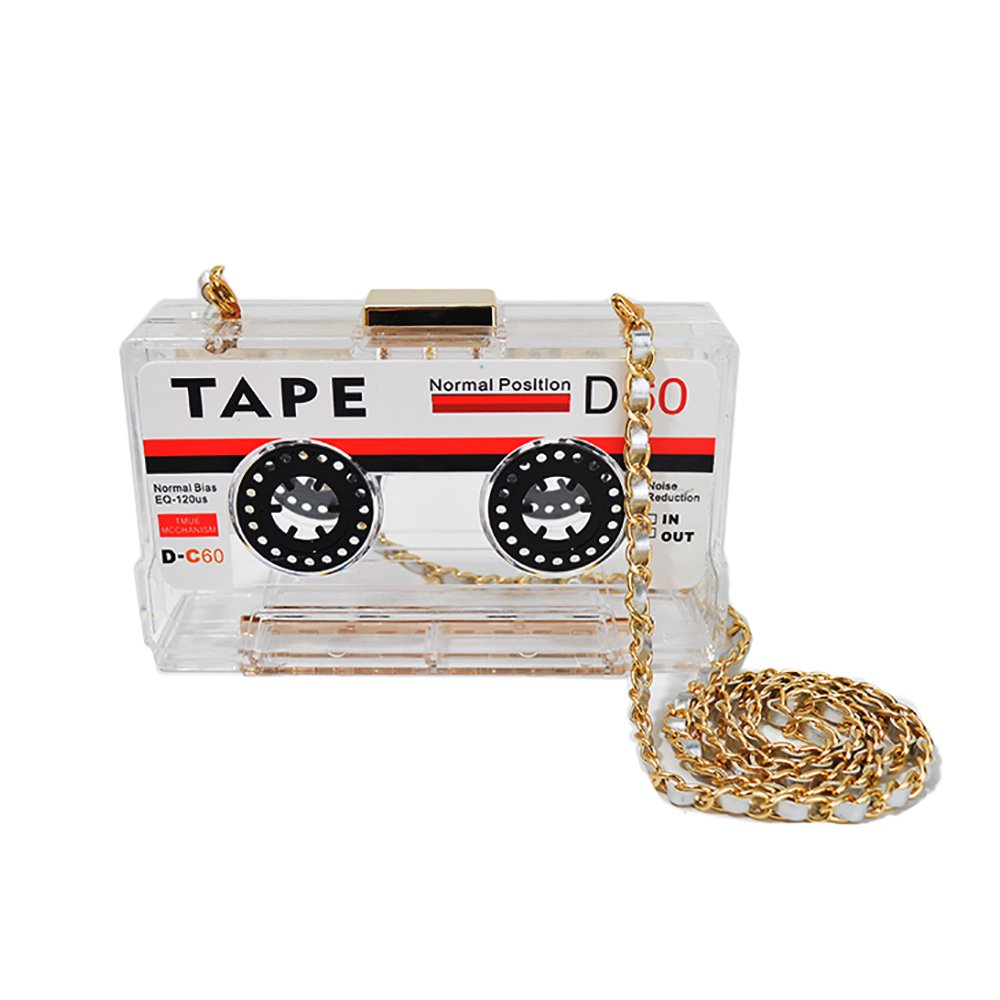 Vintage Tape Recorder Shaped Shoulder Bag