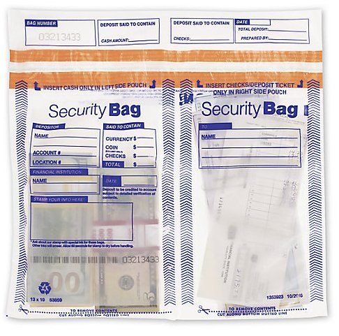 EGP Horizontal Twin Bank Deposit Bag by EGPChecks