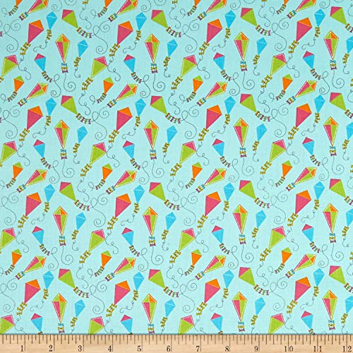 - Benartex Contempo My Little Sunshine 2 Magic Kites Medium Turquoise Fabric,