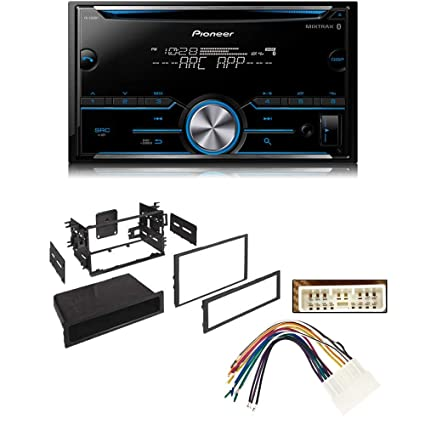 pioneer fh-s500bt double din bluetooth in-dash cd/am/fm car