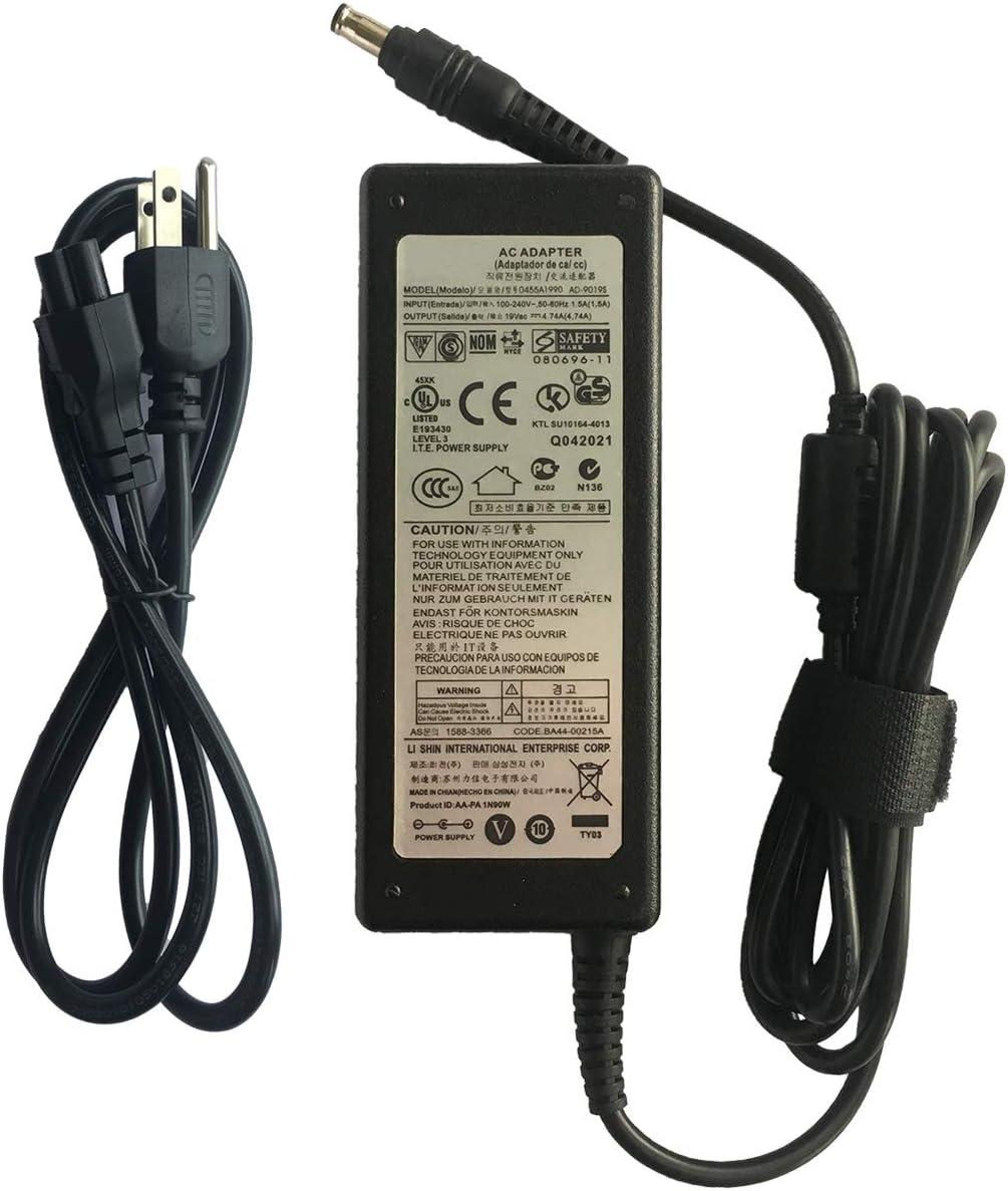 Genuine 90w Laptop Charger AC Power Adapter 19V 4.74A for Samsung Chronos Series 7 700Z 770Z 780Z NP780z5e NP700z5c NP700Z5B Spin NP740U5L NP740U5M Ativ Book NP880Z5E NP470R5E-K02UB P200 0455A1990