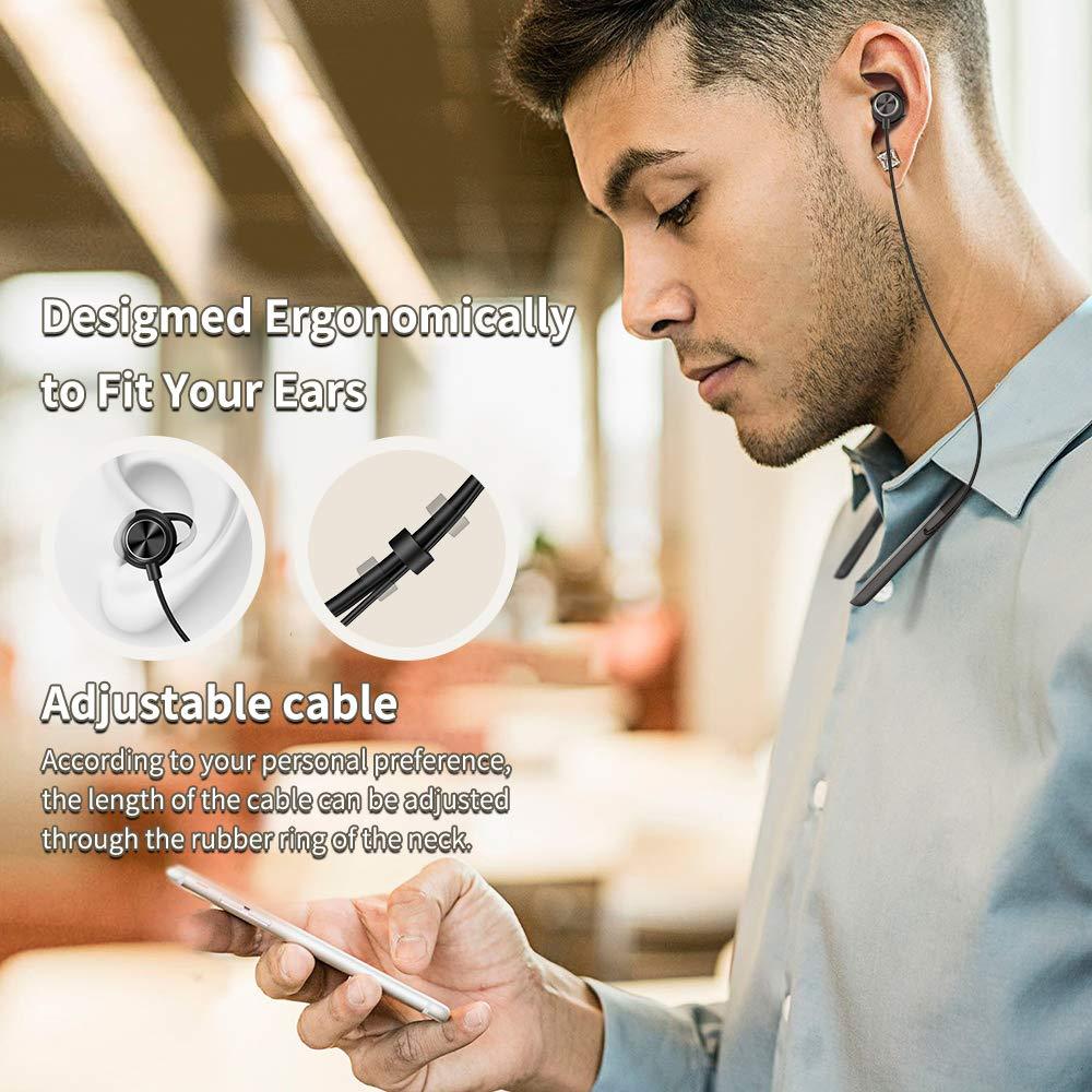 Wireless In-Ear Ohrh/örer f/ür iPhone Bluetooth Kopfh/örer V5.0 Zedela Stereo Sport Kopfh/örer Magnetische Headset 8-9 Stunden Spielzeit Huawei Schwarz usw Samsung
