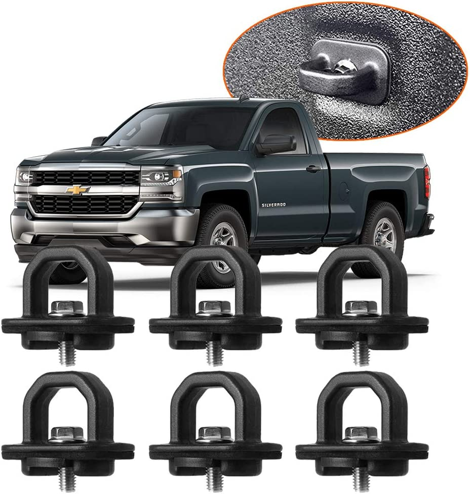 2pcs Tie Down Anchors Truck Bed Side Wall Anchor for 07-18 Chevy Silverdo GMC Sierra 15-18 Chevy Colorado GMC Canyon DZ97903
