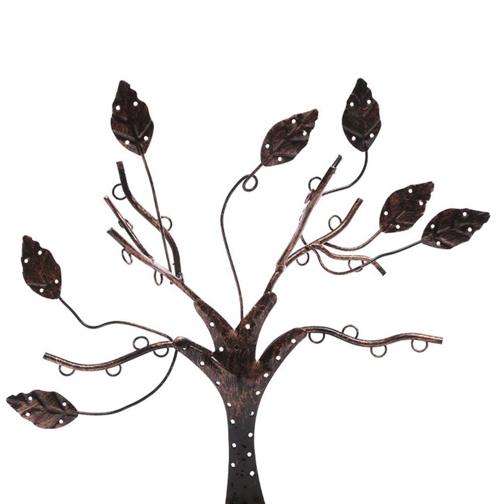 Tinksky Bijoux Affichage de larbre Support du support Organisateur Tour Pendentifs de bijoux pour pendentif Collier Pendentif avec anneau Plat plat