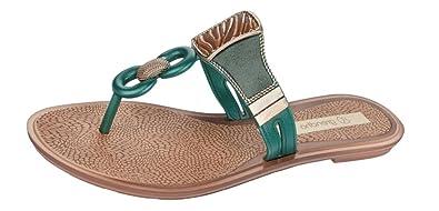 fa504ecd91dfce Grendha Golden Thong Womens Flip Flops Sandals-Green-5