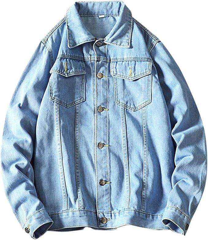 FOMANSH デニムジャケット メンズ 綿 カジュアル 大きいサイズ メンズ ジージャン 長袖 Gジャン