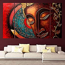 Best Religious Buddha Framed Painting in Multicolor