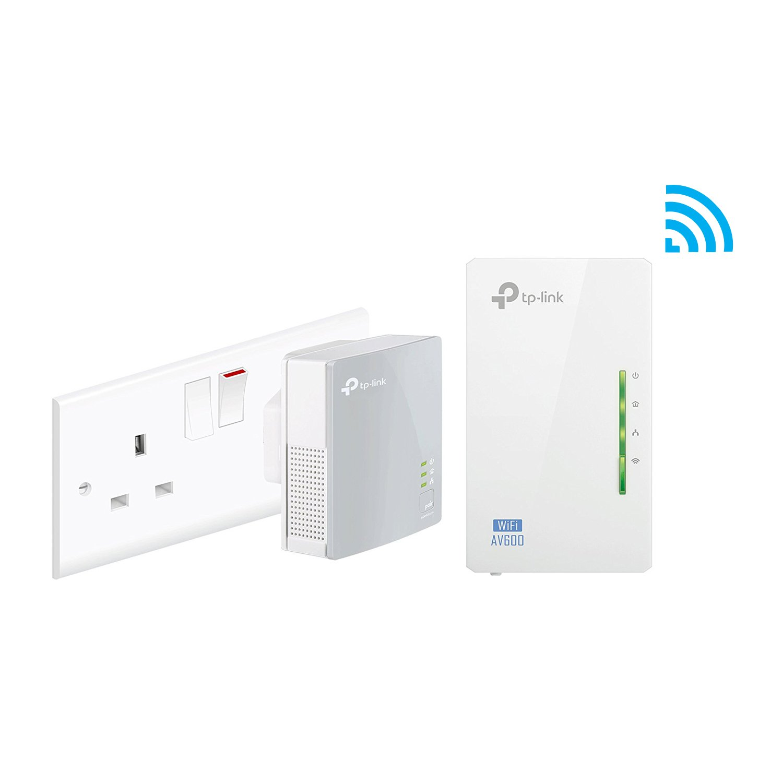 TP-Link TL-WPA4220KIT 2-Port Powerline Adapter WiFi Starter Kit, Range  Extender, Broadband/WiFi Extender, WiFi Booster/Hotspot, No Configuration