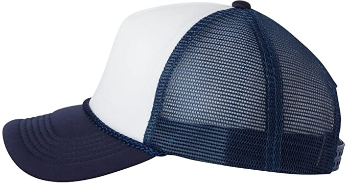 6d86953ca89a41 Image Unavailable. Image not available for. Color: Valucap by Sportsman Foam  Trucker Cap. VC700 - White / Navy