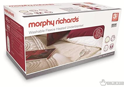 Morphy Richards 600003 Washable Heated Double Dual Underblanket Electric Blanket