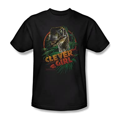 Amazon.com: Clever Girl -- Jurassic Park Adult T-Shirt: Movie And ...