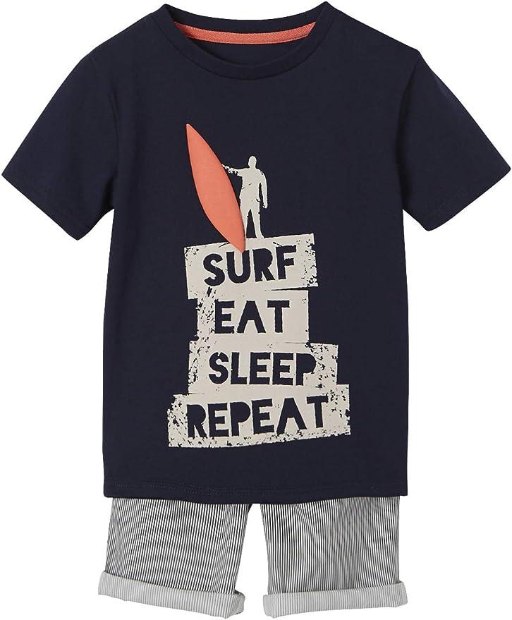 VERTBAUDET Conjunto para niño Camiseta + Bermudas con Motivo Surf: Amazon.es: Ropa y accesorios
