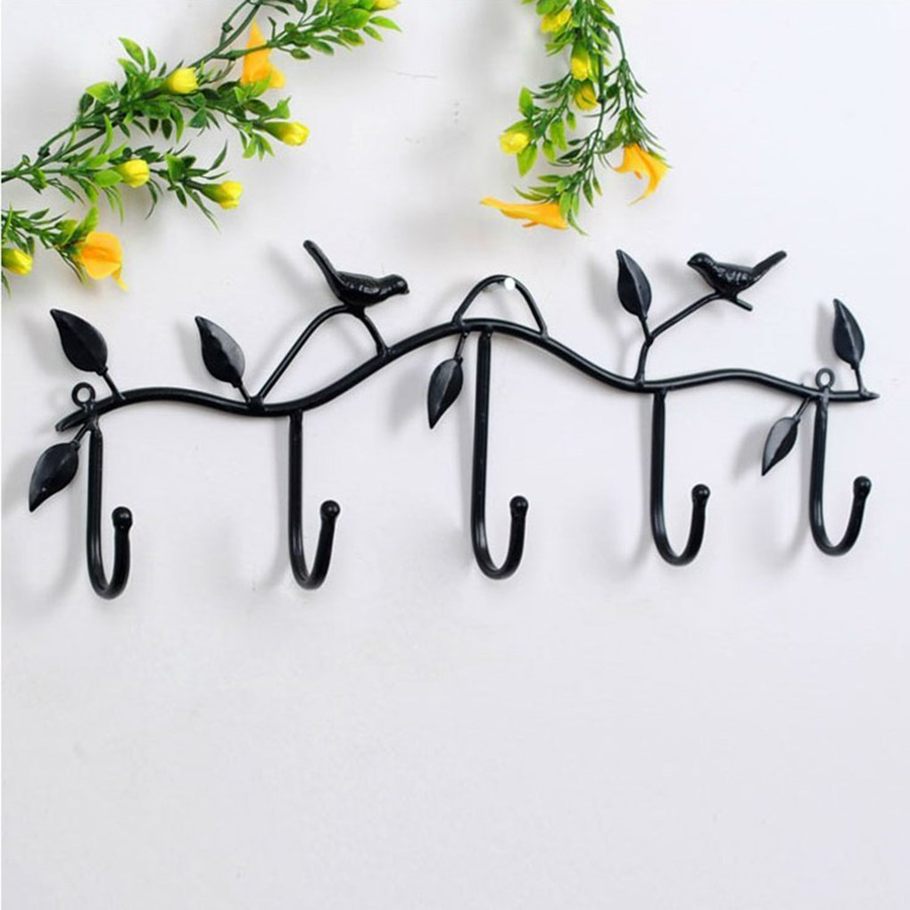 LILACORP Hat Key Holde Clothes Hook Wall Hanger Bird Bathroom Home Decor Hanger Accessories 5 Hooks Metal Coat Hooks Robe Work Well by LILACORP (Image #1)