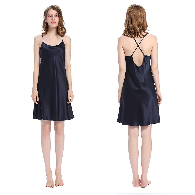 Lilysilk Schlicht Damen Seide Nachtkleid Nachthemd Kurz 22 Momme