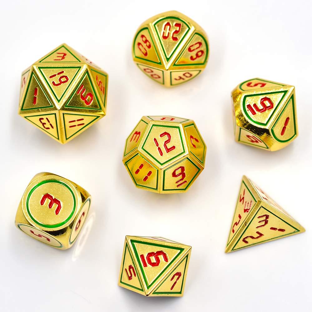 100%本物 hddais Polyhedral 7-die Dice B07KKCJX1C Set Colourful DND 7-die Gaming Dice DND for Dungeons and Dragons Tabletop roleyplaying & DNDゲーム B07KKCJX1C Gold Green Red Gold Green Red, サンコー ホビー:157ca03f --- martinemoeykens.com