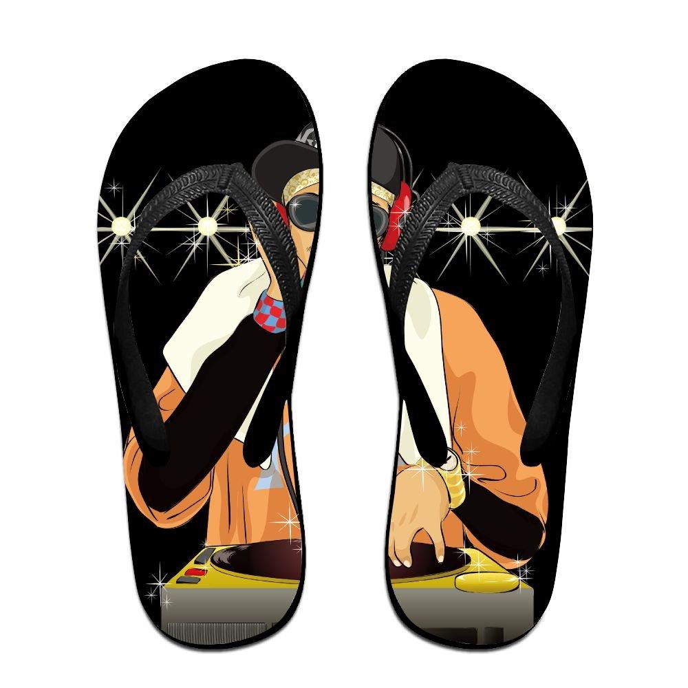 39bd29232b22 Amazon.com  Creative Cool DJ Lovers Unisex Fashion Beach Flip Flops Sandals  Slippers Sandal For Home   Beach  Clothing