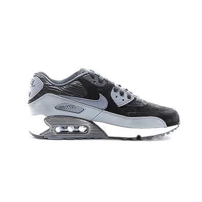 acheter en ligne c0b6a 2397f Nike Air Max 90 en Cuir pour Femme, Noir/Gris, Taille : 44,5 ...