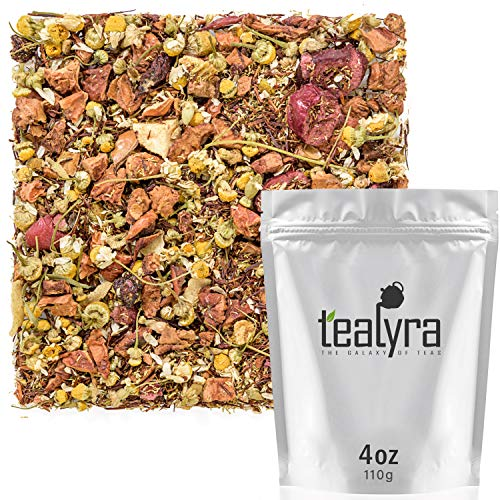 Tealyra - Tranquil Nights - Chamomile Fruity - Herbal Tea - Loose Leaf Tea - Calming & Relax Tea - Caffeine Free - All Natural Ingredients - 110g (4-ounce)