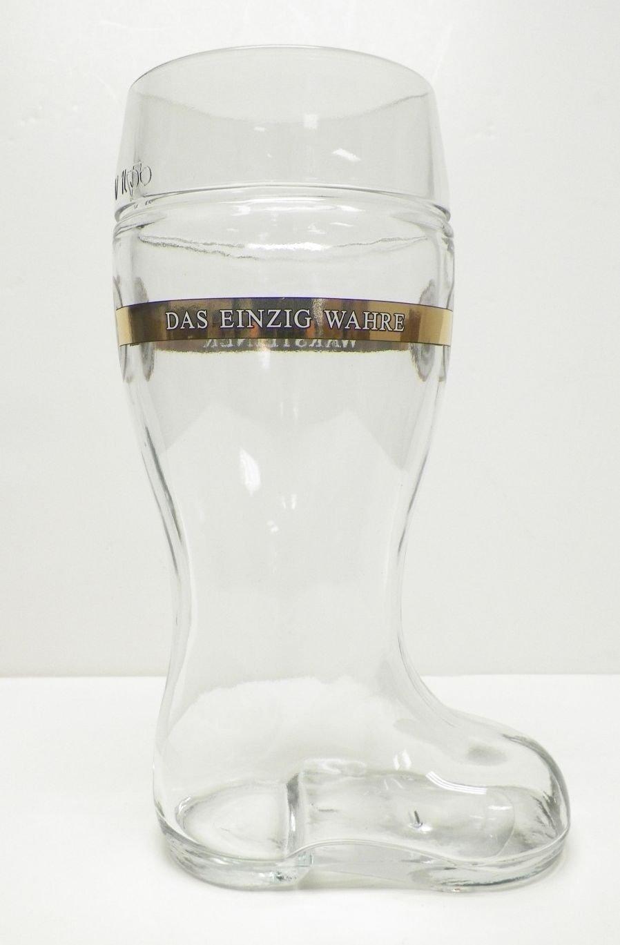 Warsteiner German Beer Boot Glass 1 Liter