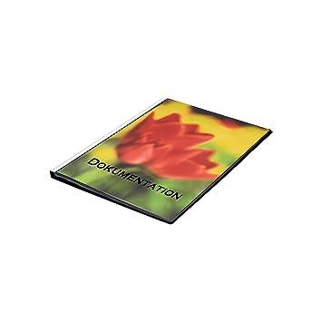 FolderSys 25833-30 - Carpeta con fundas (DIN A3, 30 fundas, con bolsillo en parte delantera y trasera: Amazon.es: Oficina y papelería