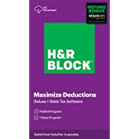 H&R Block Tax Software Deluxe + State 2020 Windows Digital Deals