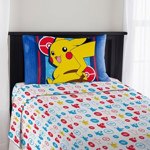Pokemon Electric Ignite Full Bedding Sheet Set