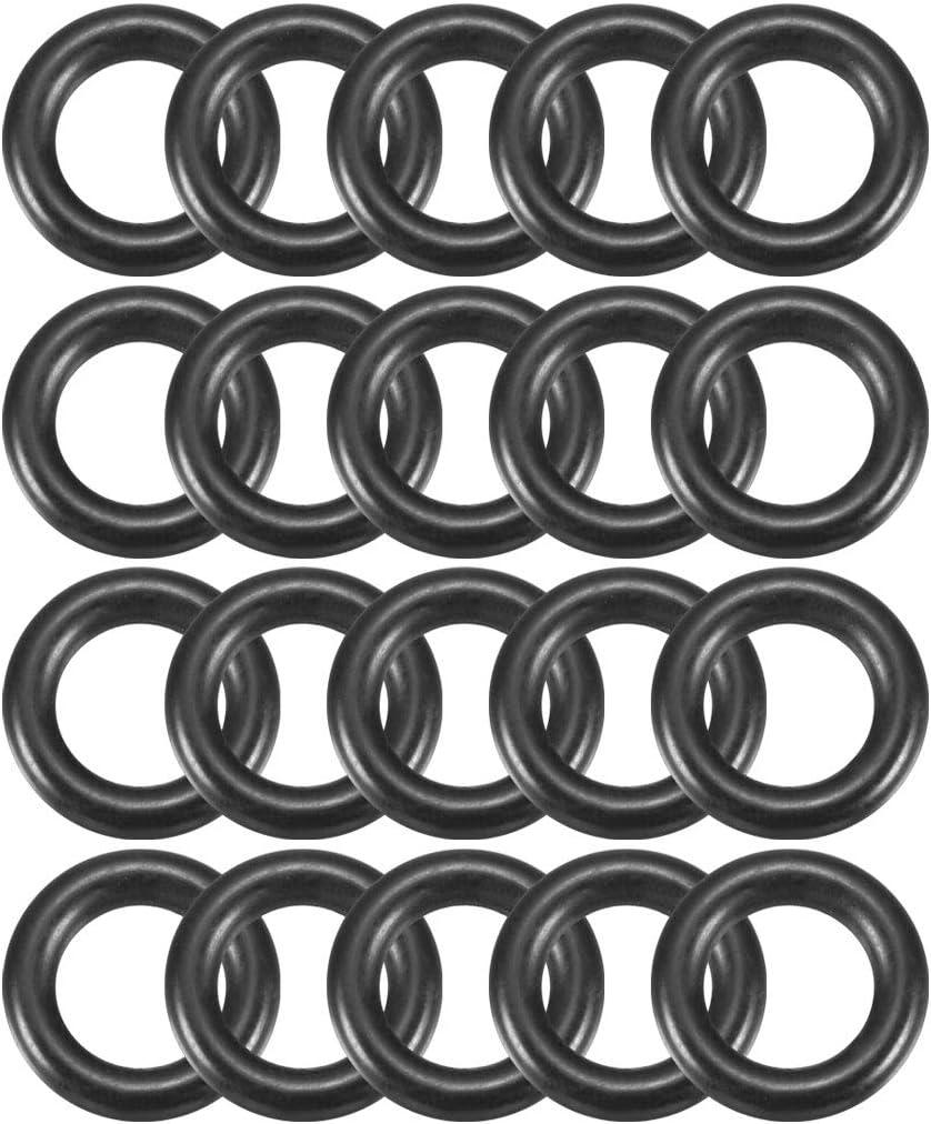 30Stk Schwarz Rund Nitril Butadien Gummi NBR O-Ring 7,5mm x 2,65mm Breite