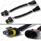 amazon com tuff led lights 2 x 4 inch round 27watt led work lamp classy autos 9145 h10 9005 hb3 wiring harness socket wire connector plug