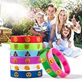 Emoji-Silicon-Bracelets-32-Pack-Party-Wristband-Bracelets-for-Kids-Birthday-Party-Supplies-Favors-Novelty-Toys-Pinata-Fillers-for-School-Classroom-Rewards-Carnival-Prizes-Accessories