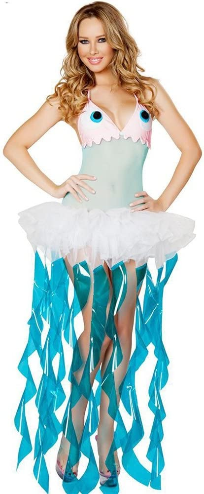 KTYX Halloween Medusas Cosplay Set Marine Theme Party Costume ...