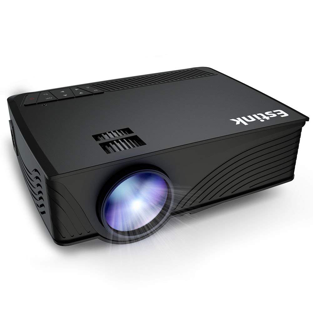 Portable LCD Projector, 2000 Lumens LCD Video Projectors Support 1080P HDMI USB VGA AV for Multimedia Home Cinema, Movie, TV, Laptops, Games, Smartphones, Black