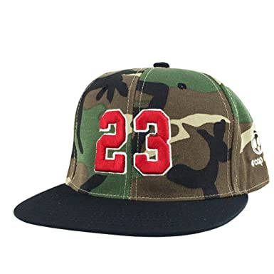 Number  23 Woodland Camo Red Black Visor X Jordan Lebron Snapback Hat Cap 5ebed1c9f86