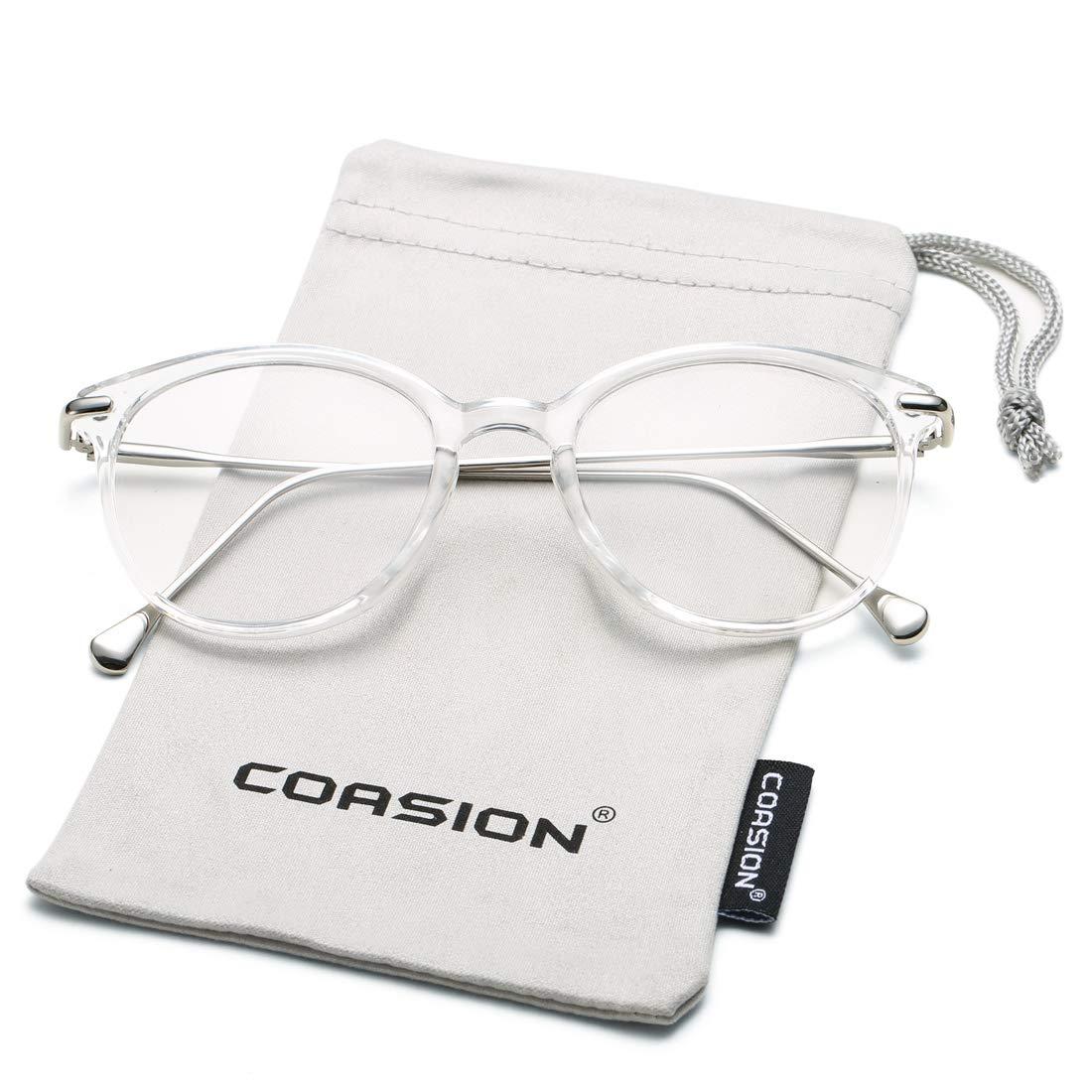 3df2a7a557e Details about COASION Vintage Round Clear Glasses Non-Prescription  Eyeglasses Frames for Women