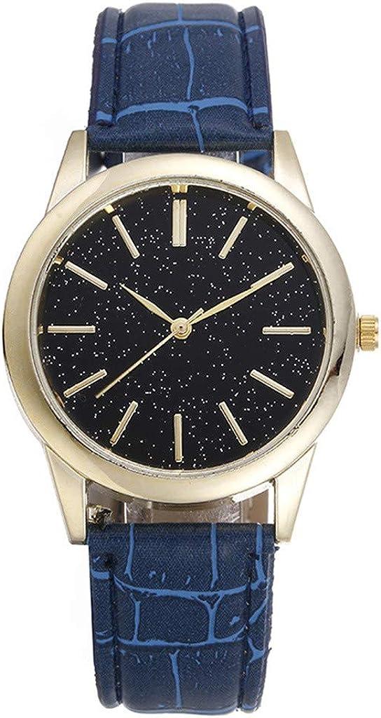 Moda Relojes Hombre Elegante Vestir 2020 Nueva,Red Informal De Hombres Populares con DecoracióN De Estrellas Reloj De Correa Salvaje De Moda
