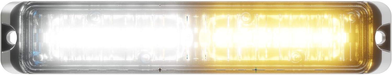 12 LED Snow Plow Truck Vehicle LED Grille Light Head Surface Mount Strobe Warning Light 36W Abrams SAE Class-1 Flex Amber//White