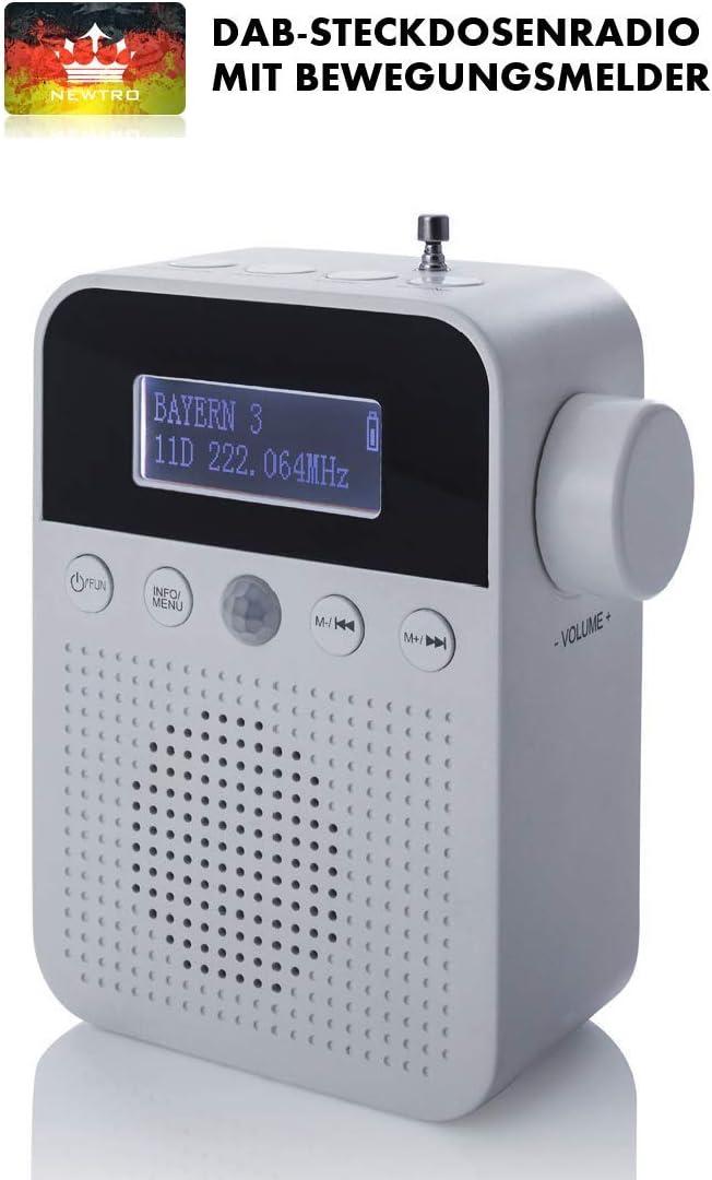 Newtro Dab Steckdosenradio Mit Bewegungsmelder Inkl Elektronik