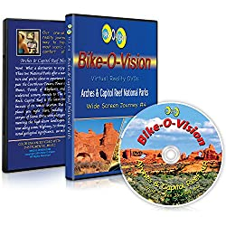 Bike-O-Vision - Virtual Cycling Adventure - Arches & Capitol Reef National Parks- Perfect for Indoor Cycling and Treadmill Workouts - Cardio Fitness Scenery Video (Widescreen DVD #4)