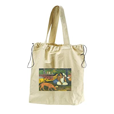 81ac3b1c64 free shipping Areaarea (Gauguin) Canvas Drawstring Beach Tote Bag ...