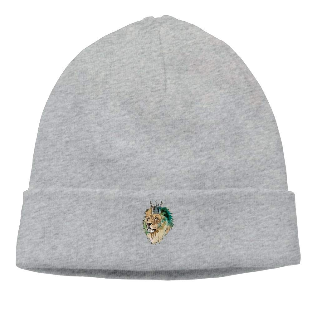 nordic runes Geometric Color Lion Head Beanie Hat Winter Warm Knit Skull Cap for Mens//Womens
