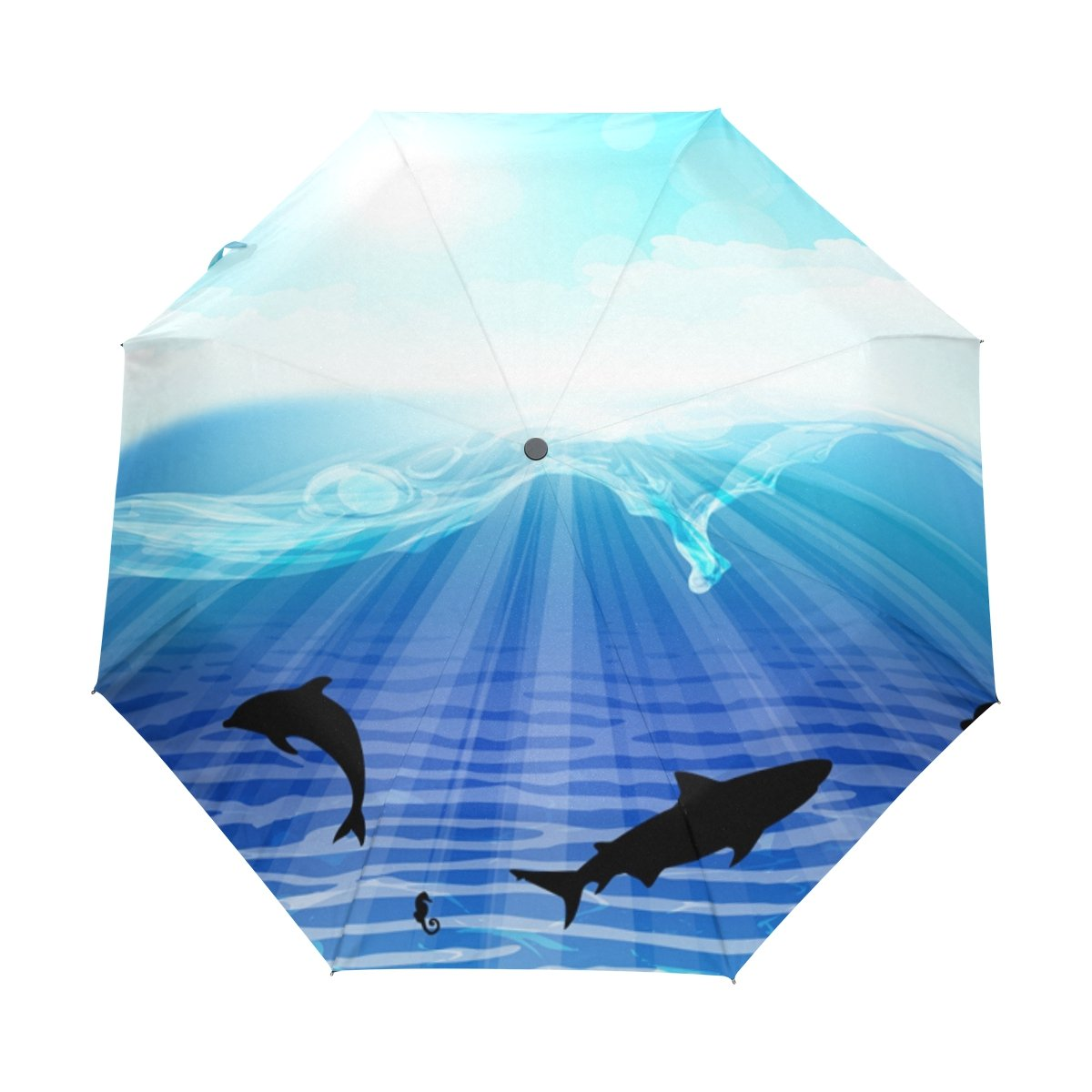 deyya Free Sea Dolphin防風旅行傘自動的に開く閉じる軽量コンパクトゴルフ傘 B075GMWG9N