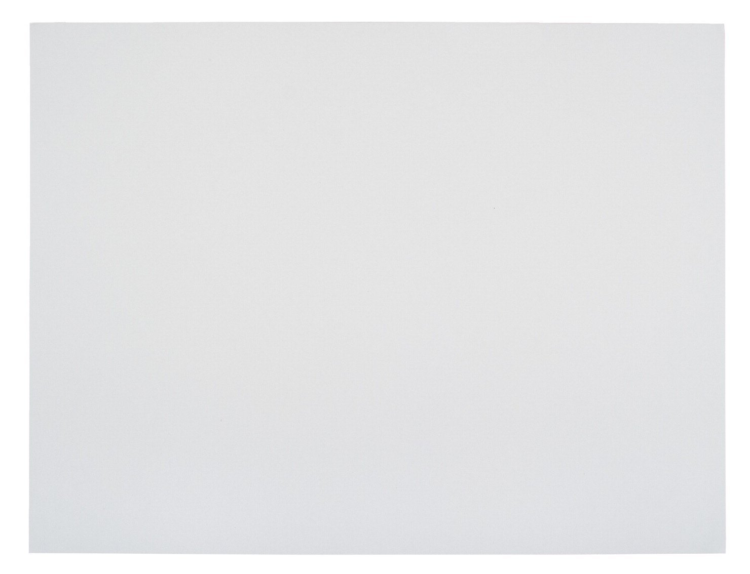 School Smart. 1485742 Railroad Board, 6-ply Thickness, 22'' x 28'', White (Pack of 25) (Limited Edition) by School Smart. (Image #1)